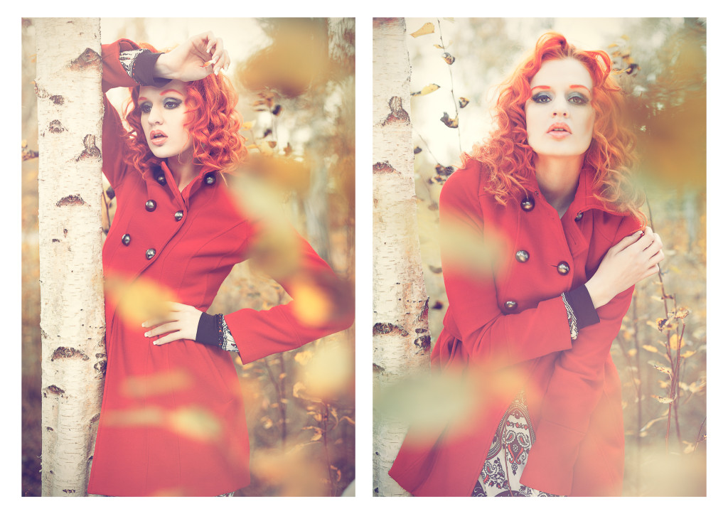 Model: Sarah. Autumn fashion portrait