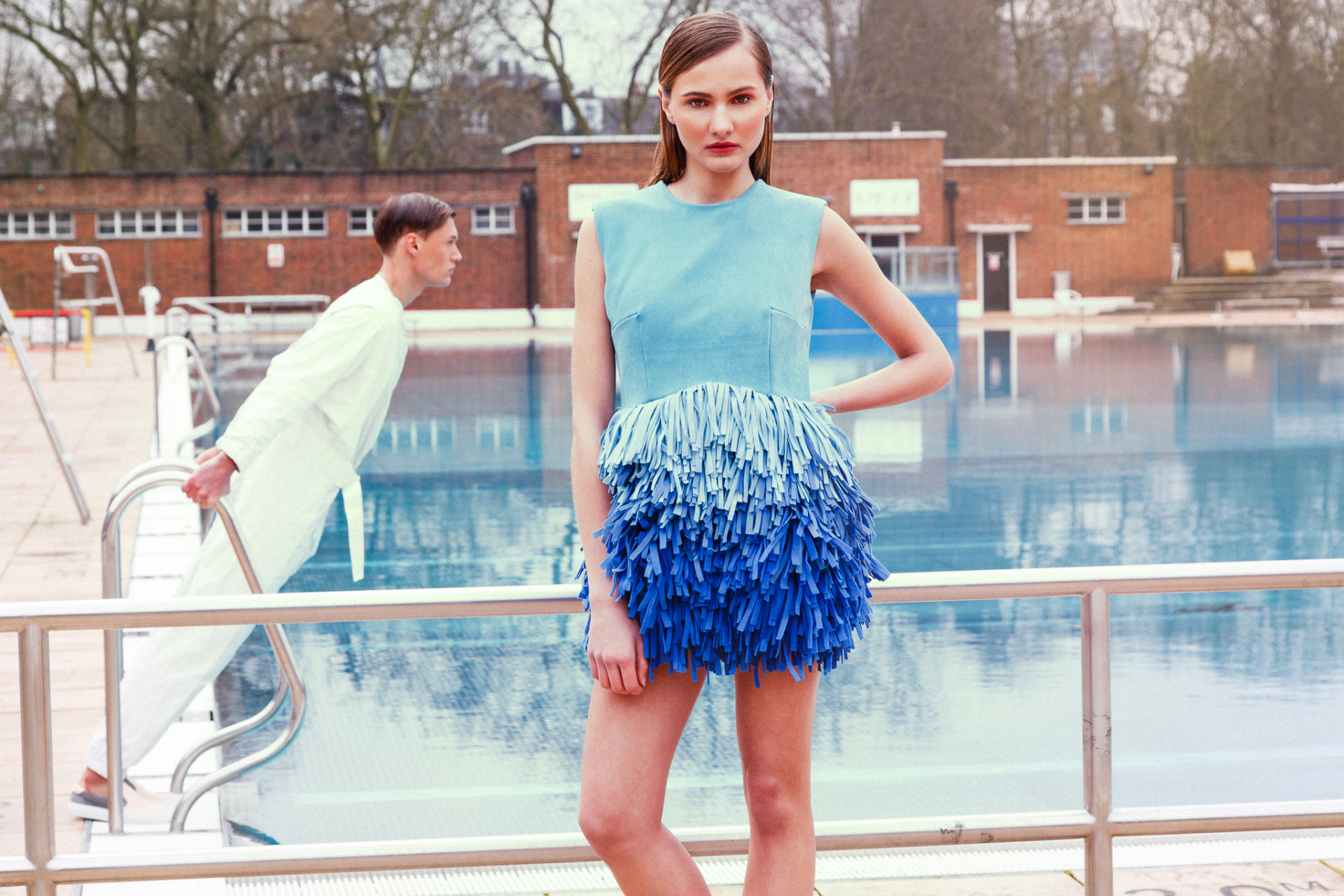 Swim Fan - fashion editorial for Be Exposed, London